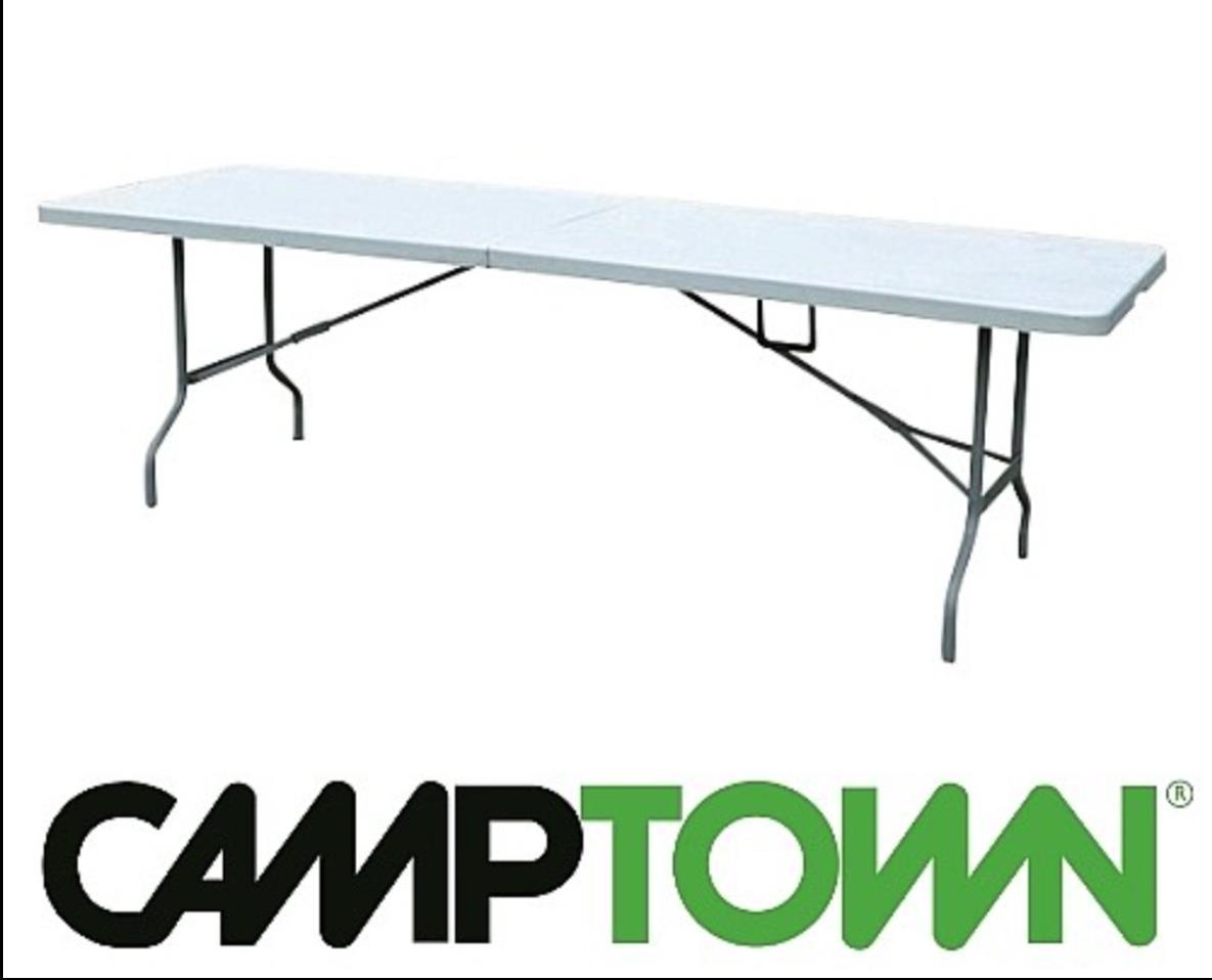 שולחן מתקפל  לבית ולשטח אורך 2.4  מטר רוחב 76 סמ' גובה 74 סמ  מתאים לאירוח ולתערוכות שולחן חזק 5748