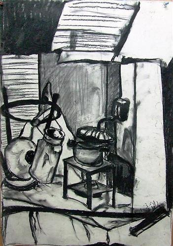 רישום - טבע דומם בסטודיו 6