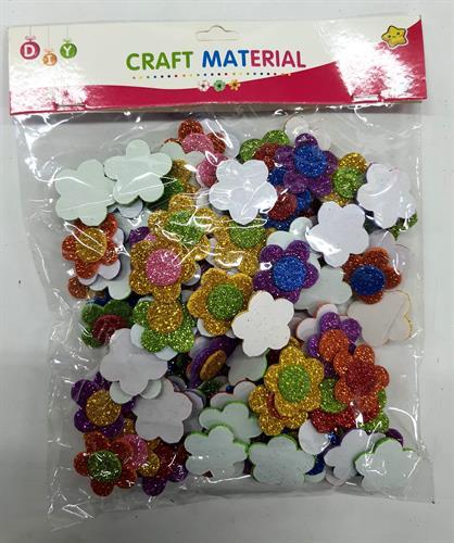 מגזרות סול פרחים נצנצים קטנים
