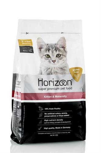 """הורייזן חתול קיטן ללא דגנים 2 ק""""ג"""