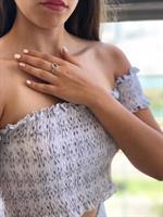 טבעת עיגול - כסף אמיתי
