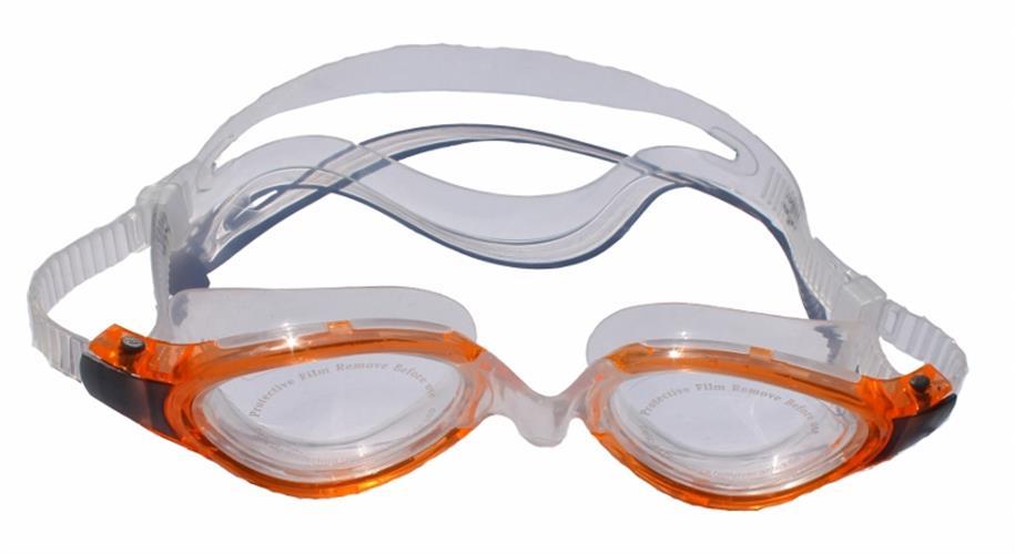 משקפי שחיה בוגרים סיליקון צבע כתום