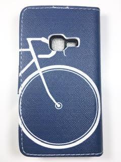 מגן ספר לסמסונג E3300 3G דגם אופניים כחול