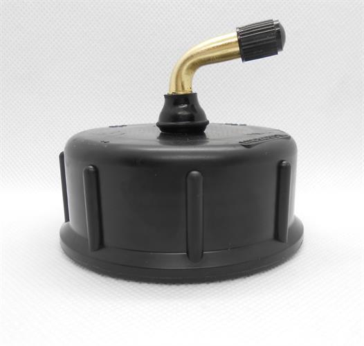 מכסה פקק חכם שחור עם שסתום נשם בזוית  לצנרת מים גיבריט קוטר 50