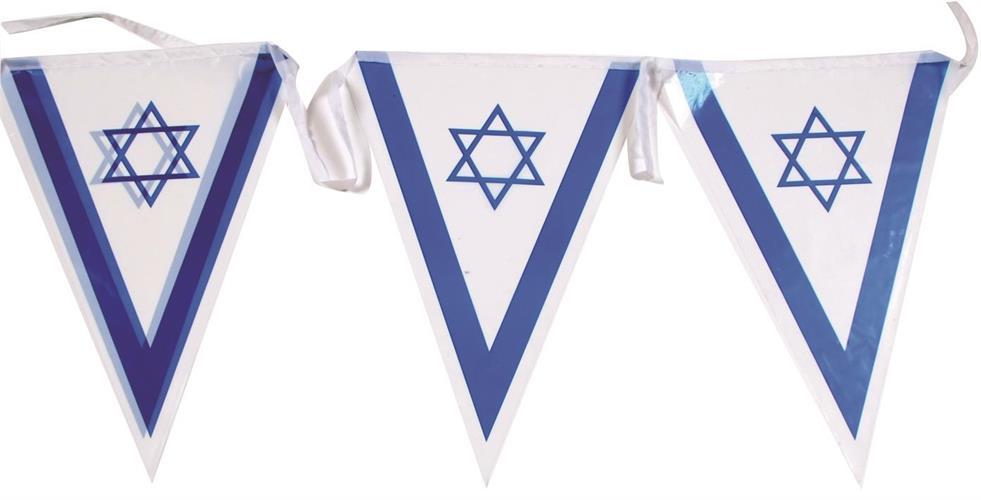 שרשרת דגלים משולשת