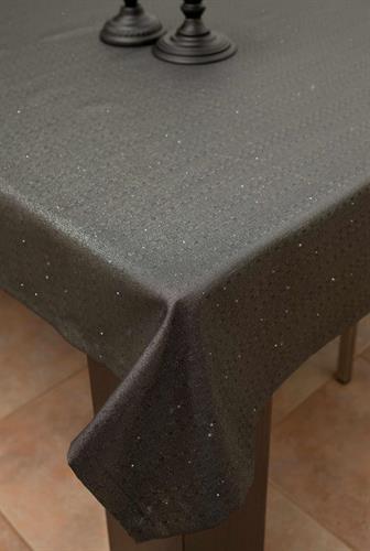 מפת שולחן יוקרתית מנצנצת אודרי - שחור כסף