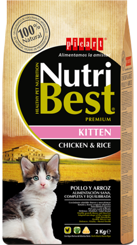 "Nurtibest נוטריבסט 2 ק""ג מזון יבש לחתולים גורים"
