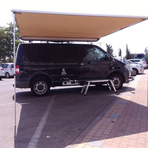 סככת צל 3 מטר על הרכב נפתחת 3 מטר מתאימה לרכב וקראוון