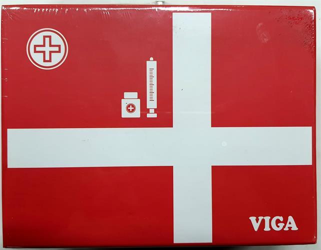 כלי רופא מזוודה אדומה