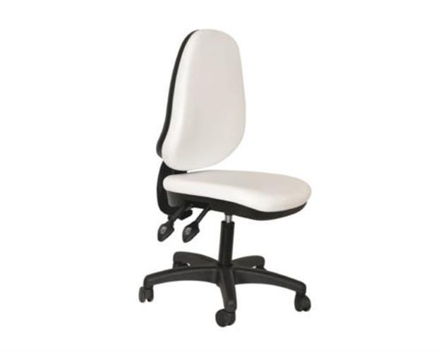 כיסא פאנטומי אורטופדי לבן עם חישוק K-03