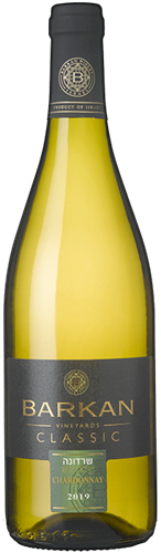 יין ברקן לבן  שרדונה 750 מ''ל