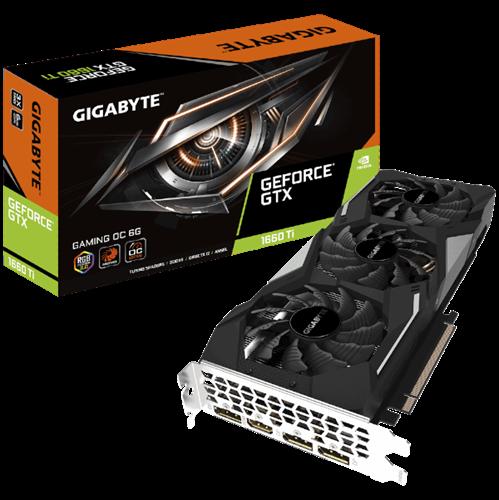 כרטיס מסך GIGABYTE GV-N166TGAMING OC-6GD GTX 1660Ti Gaming
