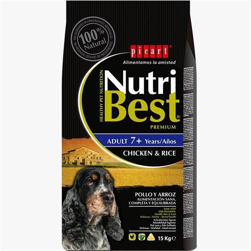 """נוטריבסט 15 ק""""ג מזון יבש לכלבים מבוגרים (סניור)"""