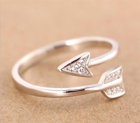 טבעת חץ מתכוננת ציפוי כסף