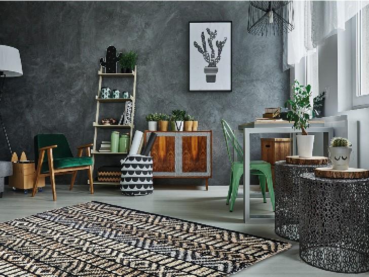 """שטיח דגם - """"דיונה"""" יוטה איכותי בעבודת יד *2 צבעים*"""