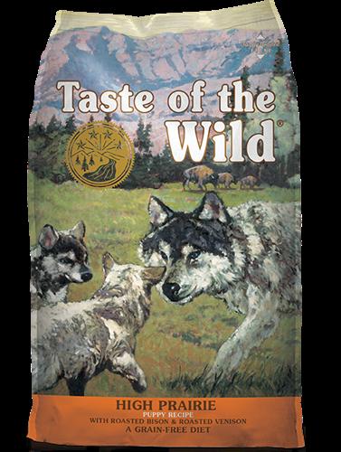 """074198611140 מזון יבש לכלבים גורים בטעם ביזון וצבי 12.2 ק""""ג Taste Of The Wild"""