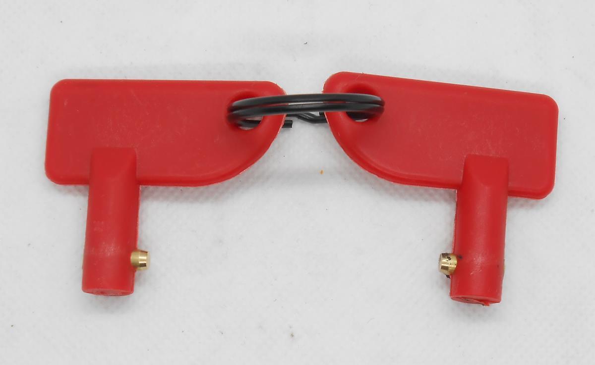 מפתח אדום למתג סוויץ ברז הפעלה וניתוק זרם חשמלי מתאים גם כסוויץ סודי המחיר למפתחות בלבד