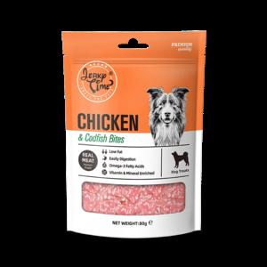 גרקי טיים -מזון מלא לכלבים-עוף עם דג סושי - במשקל כולל של 80 גרם