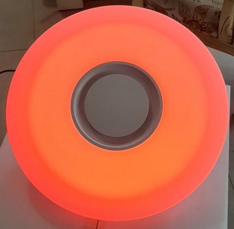 גוף תאורה קוטר 40 מדליק שליטה מלאה דרך אפליקציה אורות מתחלפים בכל הצבעים!!  אור לפי קצב המוזיקה!!