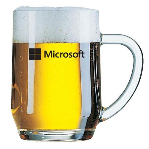 """כוס בירה חלקה עם ידית 560 מ""""ל"""