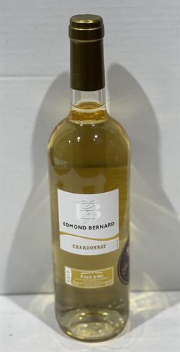 """יין צרפתי  אדמונד ברנארד  לבן  שרדונה 750 מ""""ל"""