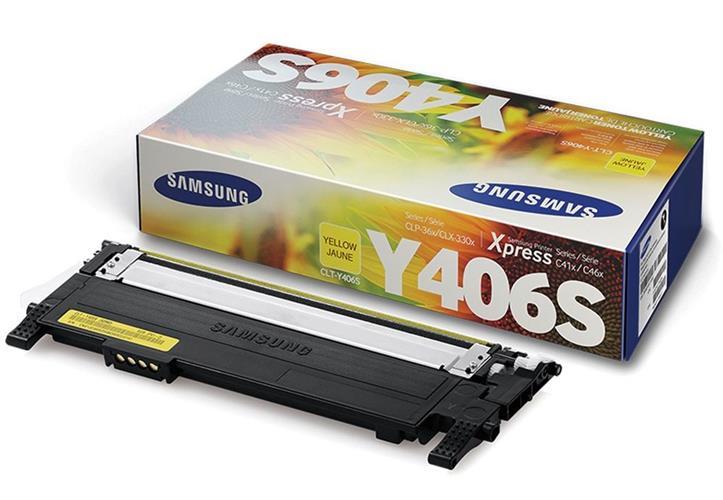 טונר מקורי צהוב CLT-Y406S לדגם Samsung CLX-3305 CLP-365 SL-C460FW