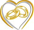 לבבות טבעות 13 סמ