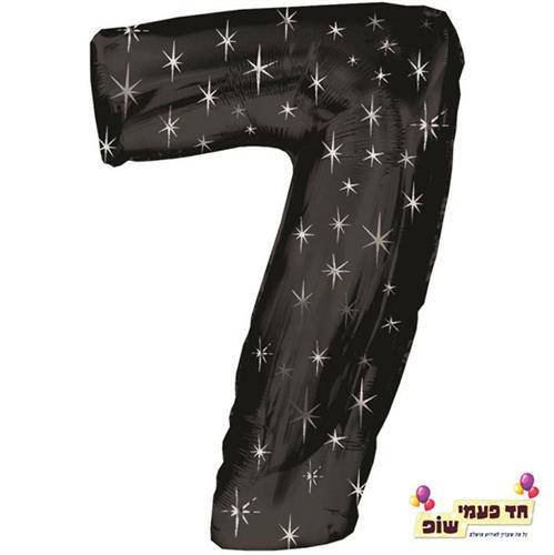 בלון 34 אינץ' 7 שחור כוכבים (ללא הליום)