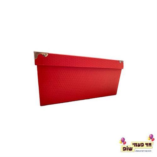 קופסא מתכת אדום מידה 3
